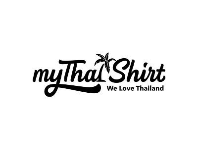 myThaiShirt - T-shirt Typography Design calligraphy graphic design lettering logotype design customtype handlettering hand drawn handmade vectorlogo tshirt design typography