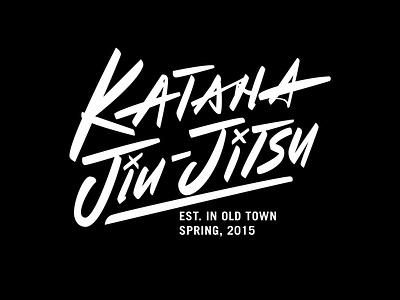 Katana Jiu-Jitsu japanese art modern calligraphy modern logo modern design freelance designer logodesign logodesigner calligraphy and lettering artist lettering artist martial art lettering logo vector creative illustration logotype handlettering portfolio typography lettering hand drawn