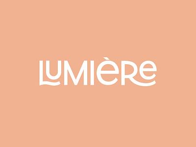 Lumiere - Luxury Typography Logo fashion logo hand drawn creative lettering custom logo beauty logo perfume logo handlettering logotype logo typography
