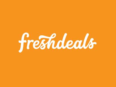freshdeals - Hand drawn typography logo.