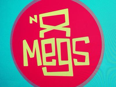 Megs n 8 Logo logo retro handlettering