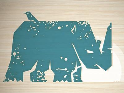Rejected Rhino tshirt rhino grunge rejected