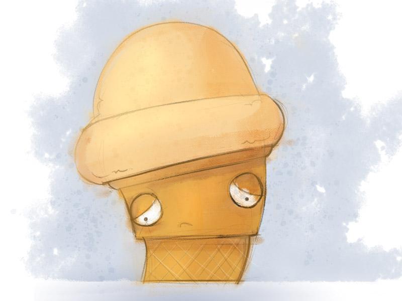 Sad Soy Cone Sketch sketch ice cream