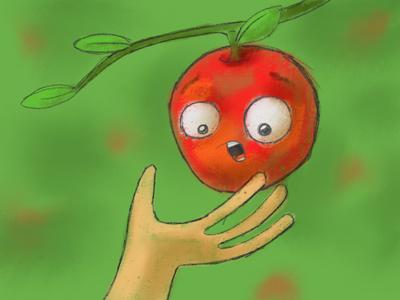 Apple Picking Time! apple fall fear afraid pick procreate