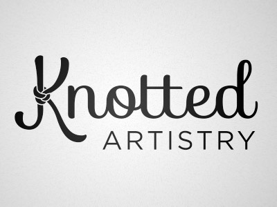 Knotted Artistry Logo hair styling logo