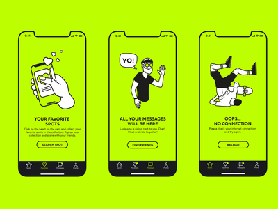 LONGRIDE | empty state mobile design mobile app app empty states bhsad mad6 ui design mad666 illustration iambritankastudent ux ui mobile