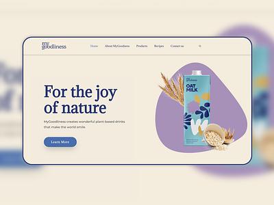 E-commerce — Vegan Milk Website web design shop milk vegan website figma wordpress e-commerce ux