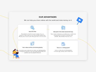 Our Advantages ux landing page design web design figma