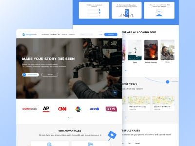 StringerHub — Landing Page uiux ui video platform ux landing page design web design figma