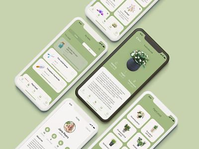 Plant Lover Mobile App Design layout screenshota green mobile design plant lover app concept animation ui ui ux designer minsk ui ux ui ui designer mobile ux ui plants mobile app ux design web design figma