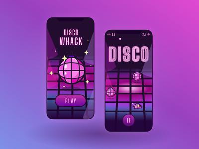 """""""Disco Whack"""" Mobile Game Concept design figma party disco app disco minsk ux ui mobile app ux ui mobile game design mobile game ux ui"""
