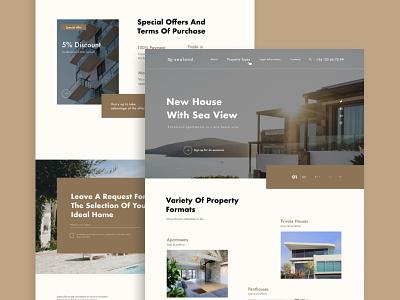 Apartment Complex Website hotel house tablet design mobile design design concept ux ui concept minsk designer ux ui designer minsk ux ui adaptive apartment website landing page ui ux web design design figma