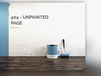 Simple 404 page for Painting shop