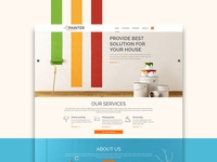 Painting shop landing page