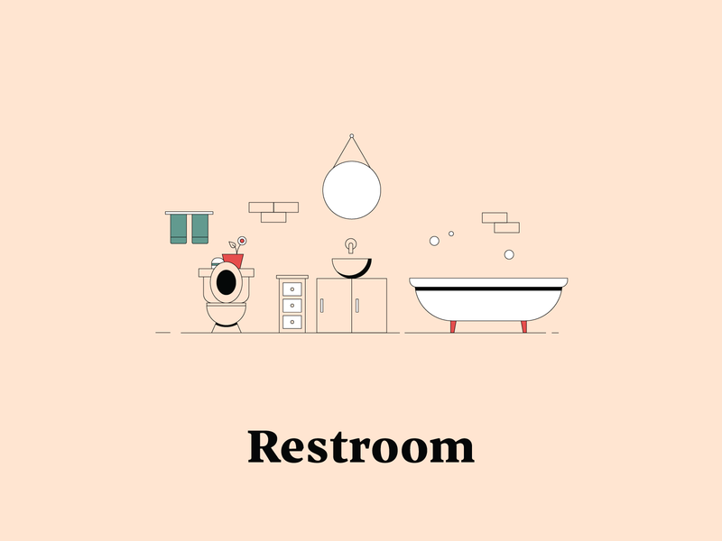 R is for Restroom