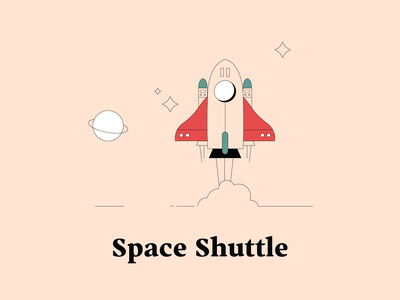 S is for Space Shuttle spaceshuttle spaceship space illustrationchallenge dwellingsfromatoz