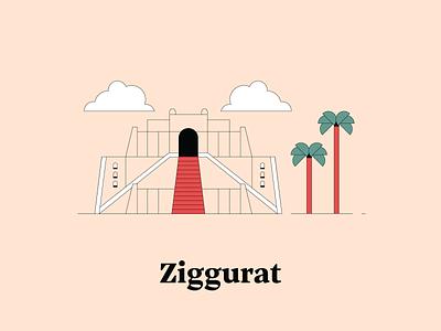 Z is for Ziggurat ziggurat illustrationchallenge dwellingsfromatoz