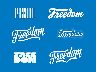Freedom Type Exploration custom type freedom design hand lettering lettering