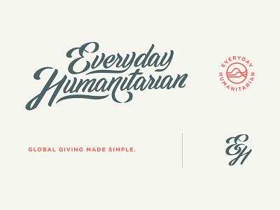 Everyday Humanitarian Logo non-profit nonprofit waves everyday art humanitarian charity everyday humanitarian app design hand lettering lettering