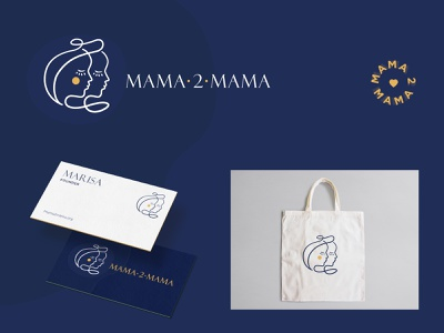 Mama2mama Logo and Visual System women empowerment support nonprofit mothers mama logo branding