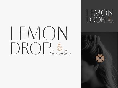 Lemon Drop Hair Salon Logo hair salon lemon drop lemon logo hair