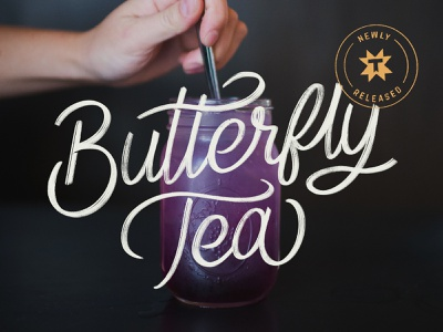 Thump Coffee Butterfly Tea Ad drink typography branding coffee shop coffee coffee ad butterfly butterfly tea hand lettering tea lettering