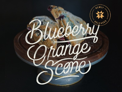 Thump Coffee Blueberry Orange Scone Ad baking coffee ad coffee shop coffee hand lettering typography lettering blueberry scone branding