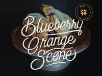 Thump Coffee Blueberry Orange Scone Ad