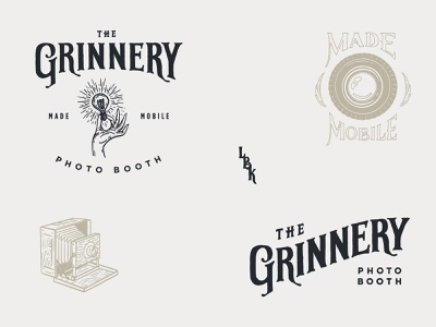 Grinnery Logo texas lubbock lbk hand light bulb camera vintage made mobile grinnery mobile photo booth
