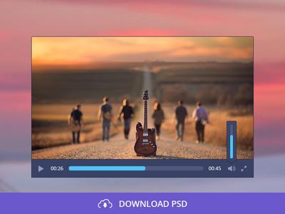 Free Audio/Video Player PSD