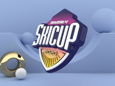 SkiCup_2020 c4d logo branding design