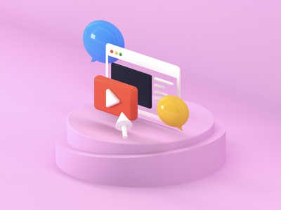 Blog c4d illustration app design ui