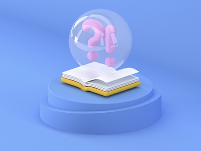 FAQ icon c4d illustration app ui design