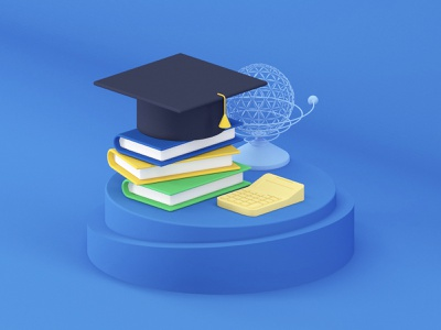 Study icon c4d illustration app ui design