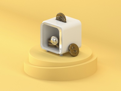 Deposit icon c4d illustration ui app design