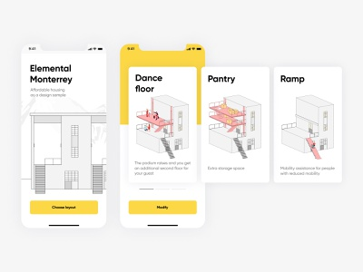 Elemental Monterrey minimal vector illustration bhsad iambritankastudent mad6 design bhsadmad app ui