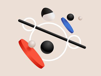 Three-Dimensional Shapes II white black artwork app clean website concept 3d shapes website affinitydesigner illustration dailyui color art vector