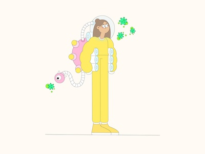 Coronavirus Time covid19 color flat people characterdesign adobe illustrator 2d illustration dailyui art vector