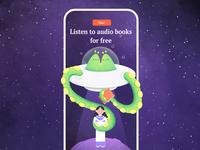Listen To Audio Books illustrator flat characterdesign affinitydesigner 2d illustration dailyui color art vector