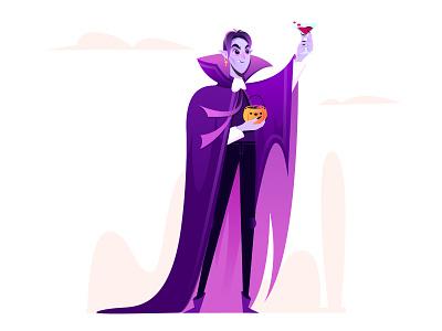 Happy Halloween/Dracula people halloween vampire 2d affinitydesigner illustration art vector