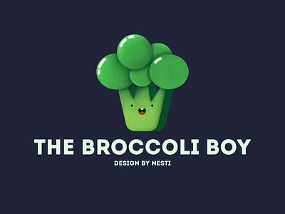The Broccoli Boy cuteface kids illustration affinitydesigner draw breakfast dailyui illustration concept creative website characterdesign clean green food color art 2d flatdesign vector broccoli