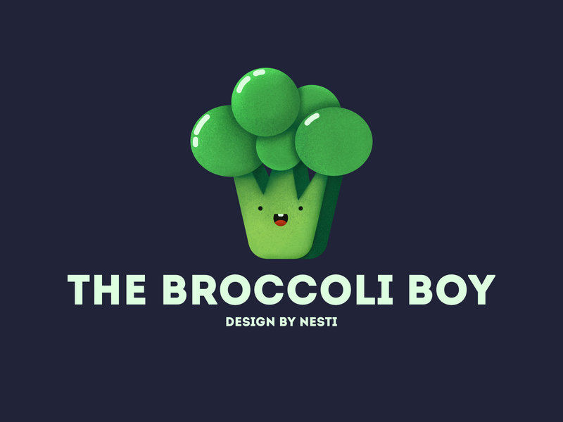 The Broccoli Boy cuteface kids illustration affinitydesigner draw breakfast dailyui illustration concept creative website characterdesign clean green food color art 2d flatdesign vector broccoli