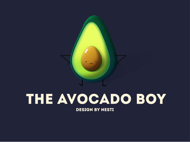 The Avocado Boy breakfast daily ui boy kid website characterdesign drawiing food avocado flat illustration affinitydesigner 2d illustration dailyui color art vector