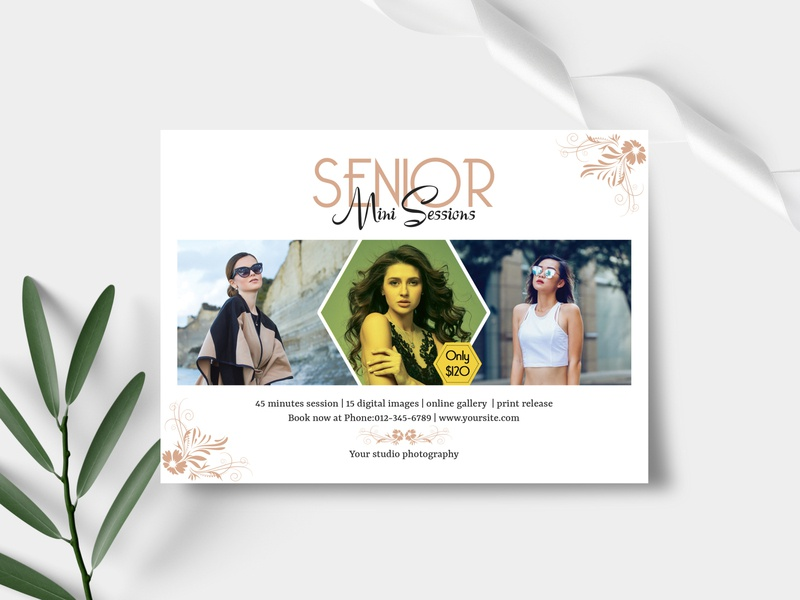 Senior Photography mini session Template photography marketing board