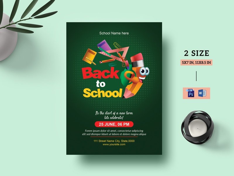 Back to School Party Flyer back to school party flyer back to school party flyer