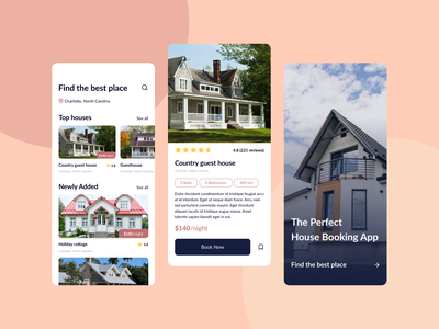 House Booking App booking app ui design
