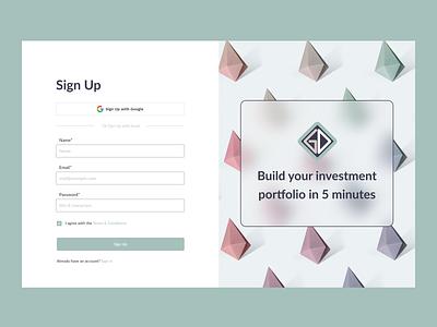 Login/Sign Up form web ui design