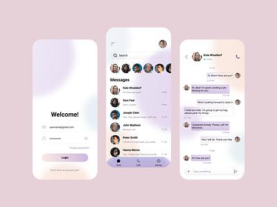 Messenger app ux app ui design