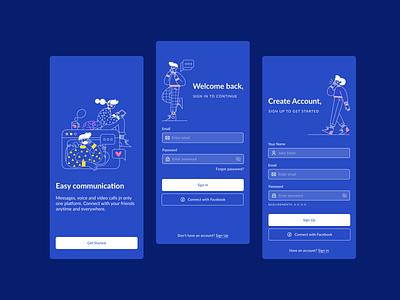 Login and Registration screens ux app ui design