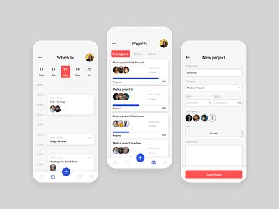 Project management App app ui design